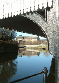 The Leeds and Liverpool Canal at Burnley Wharf