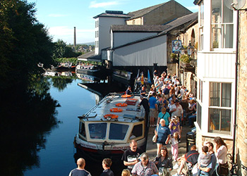 Burnley Canal Festival at Burnley Wharf in the Weavers' Triangle.